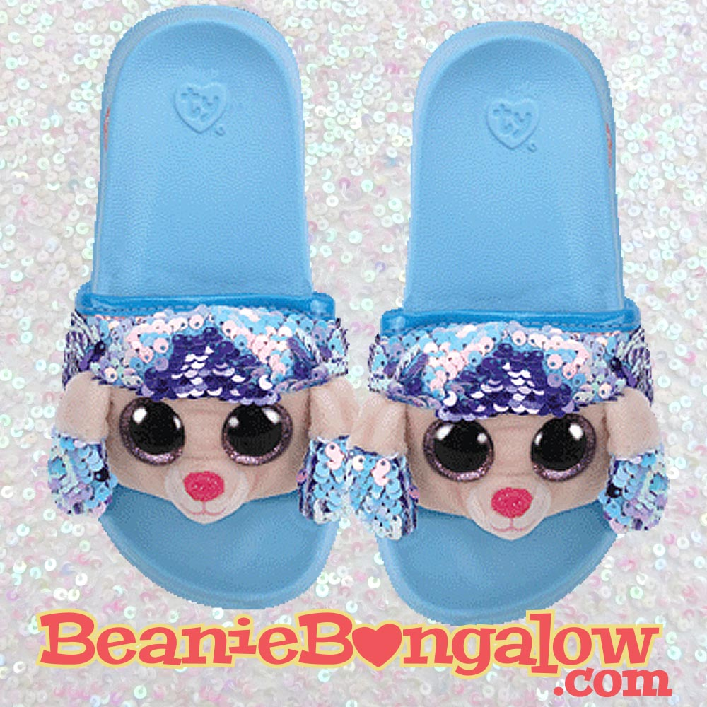 Ty Fashion Poodle Pool Slides Flip-Flops
