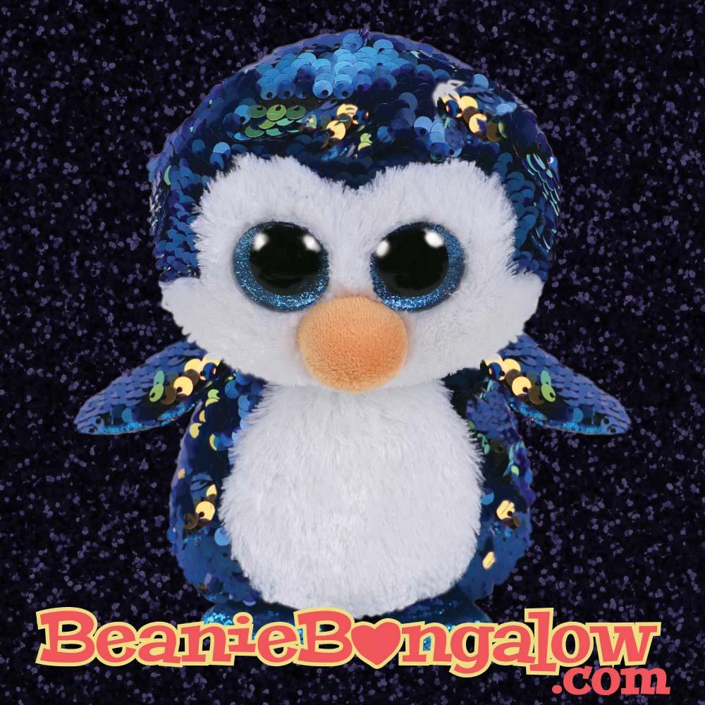 Ty Flippables - Blue Penguin