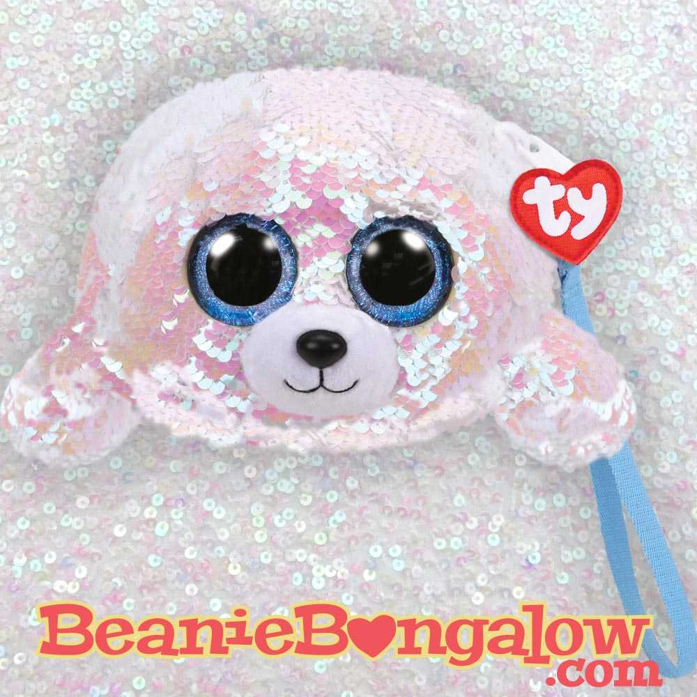 00ad192dcc2d Ty Fashion Icy the seal wristlet – Beanie Bungalow – Ty Beanie Boos ...