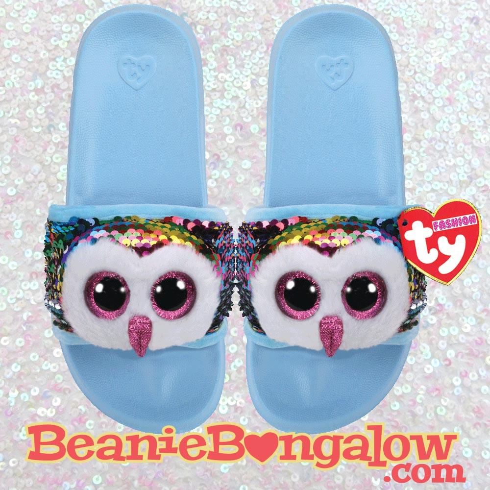 Ty Fashion Owl Pool Slides Flip-Flops