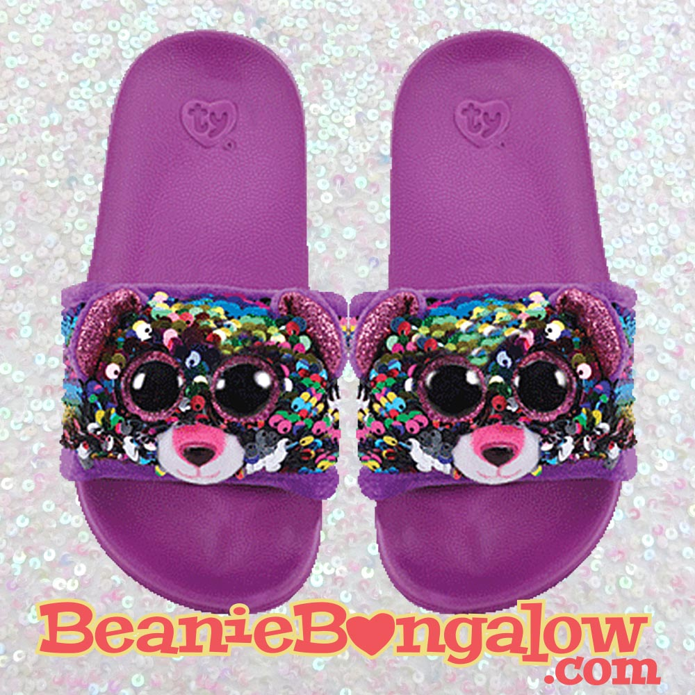Leopard Ty Fashion Pool Slide Flip-Flops